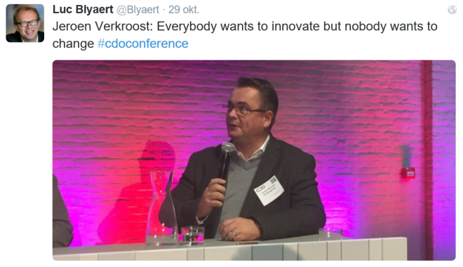 everybody wants to innovate, but no-one wants to change